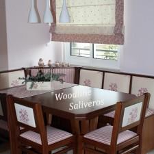 Ρομαντικό καθιστικό κουζίνας Floral.