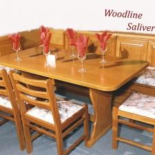 Καθιστικό Kasetina με ξύλινη πλάτη θυμίζει παλιές εποχές.